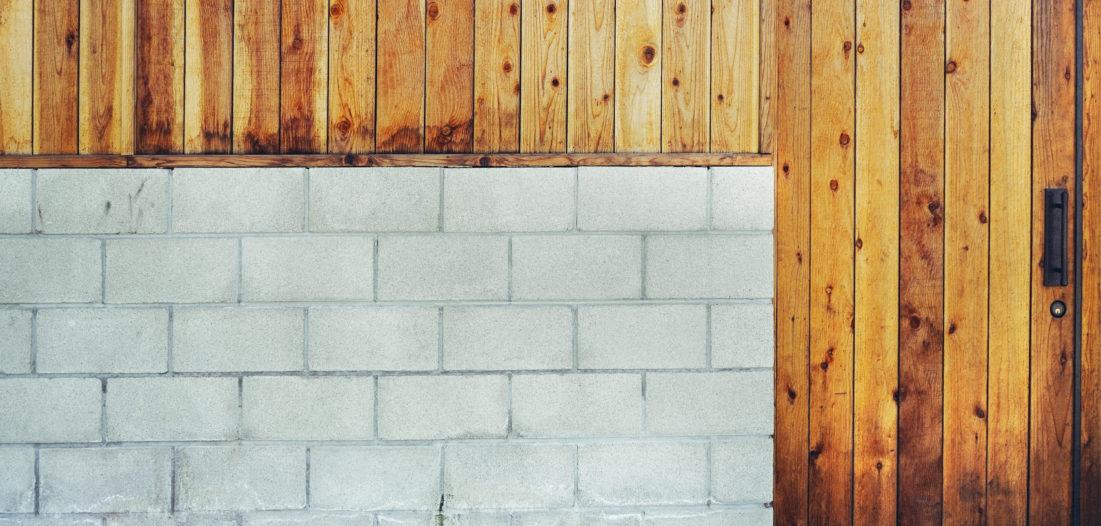 Beton und Holz  bandeln an